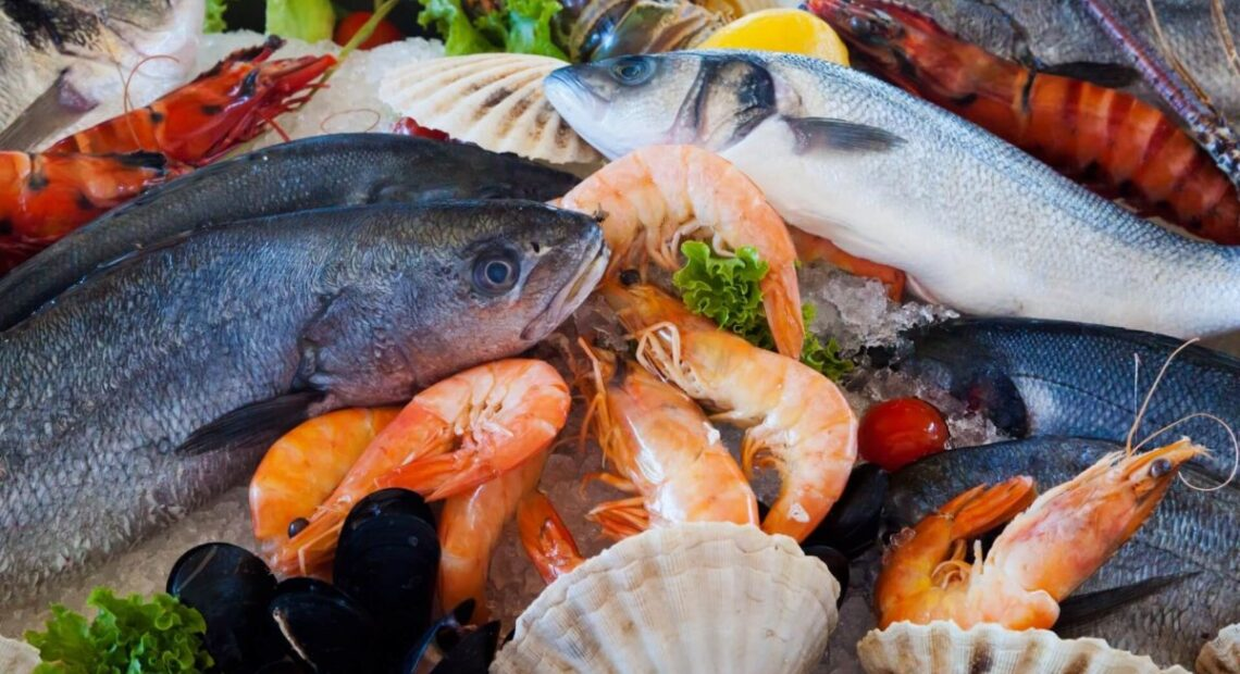 Ryby, krewetki i małże