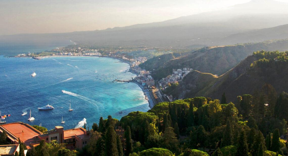 Widok na Sycylie