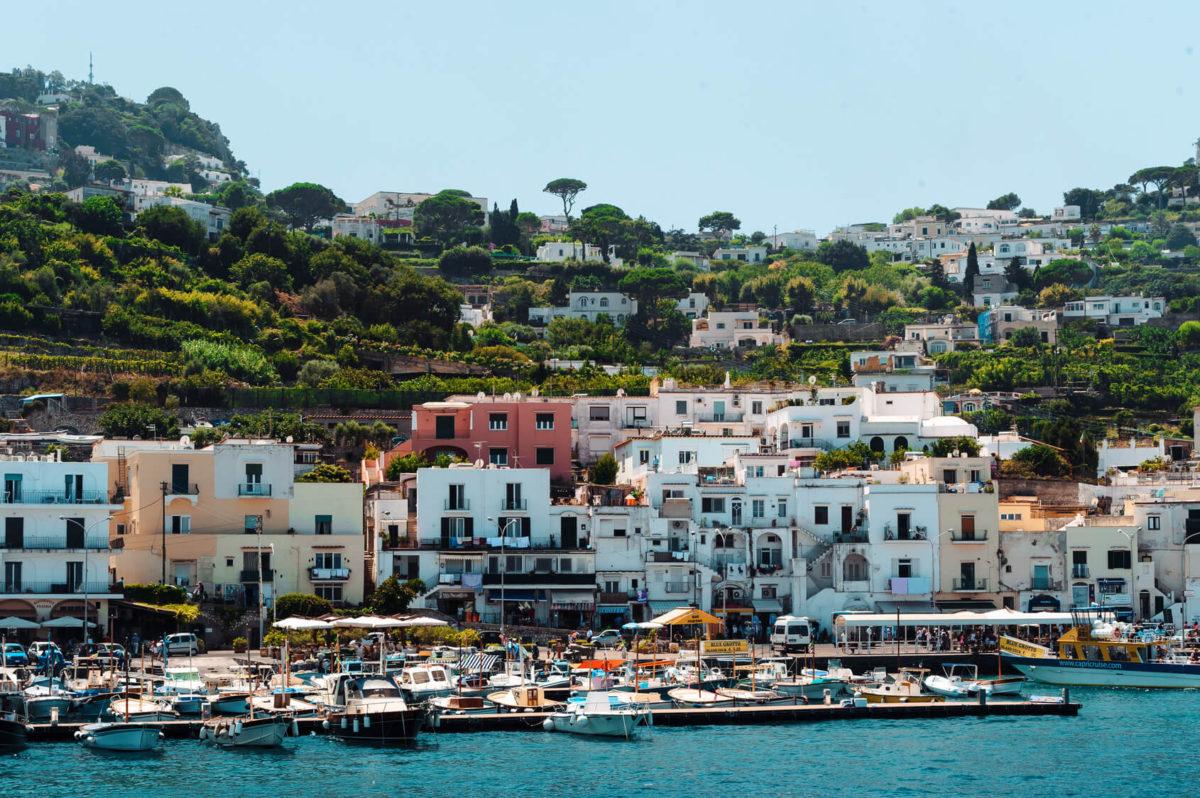Widok na Włoskie Capri