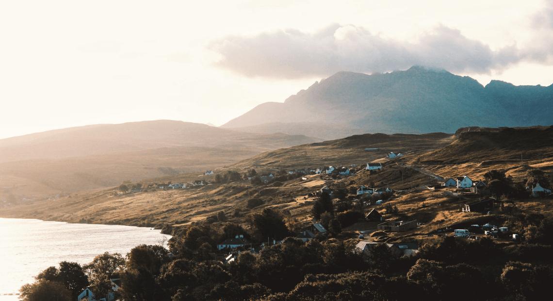 Widok na szkockąwyspę Skye