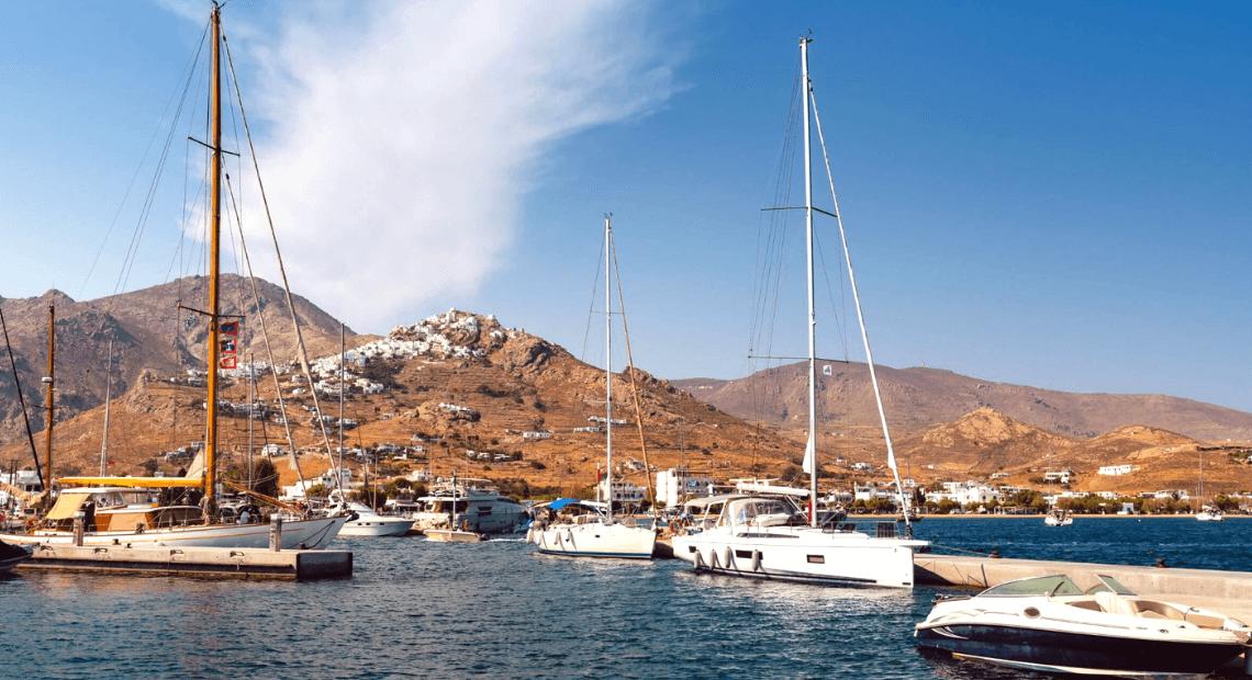 widok z portu w grecji